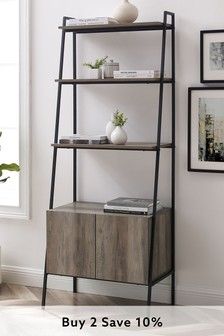 Banbury Designs Arlo Metal and Wood Ladder Storage