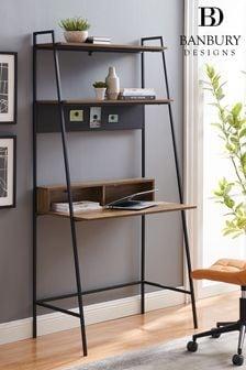 Banbury Designs Metal and Wood Ladder Desk