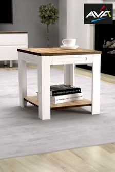 AVF Whitesands Rustic Wood Effect Side Table