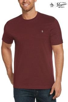 Original Penguin Mens Red S/S Embroidred Logo T-Shirt