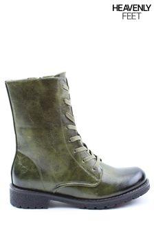 Heavenly Feet Ladies Chloe2 Low Calf Boots