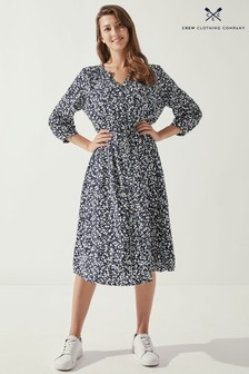 Crew Clothing Company Blue Melodie Dress