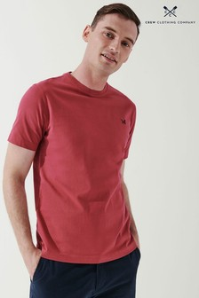 Crew Clothing Company Red Crew Classic T-Shirt