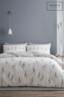 Bianca Natural Dapper Ducks Duvet Cover and Pillowcase Set