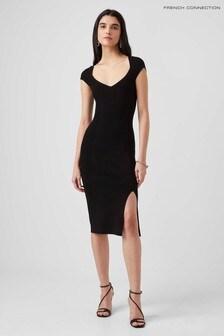 French Connection Black Octavia Fashioning Dress
