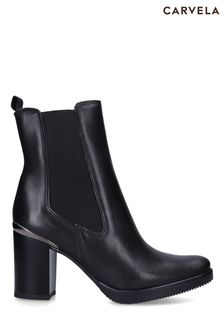 Carvela Comfort Black Reach Ankle Boots
