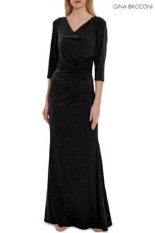 Gina Bacconi Black Samantha Maxi Dress