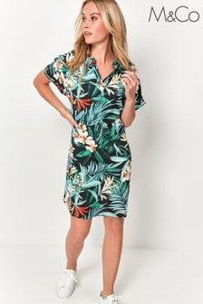 M&Co Black Tropical Tunic Dress