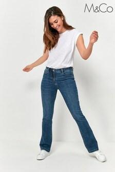 M&Co Blue Bootcut Jeans