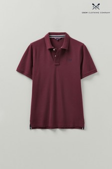 Crew Clothing Company Red Classic Pique Polo Shirt