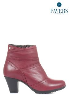 Pavers Ladies Leather Ankle Boots