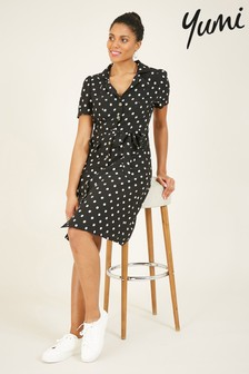 Yumi Spotted 'Nadia' Shirt Dress