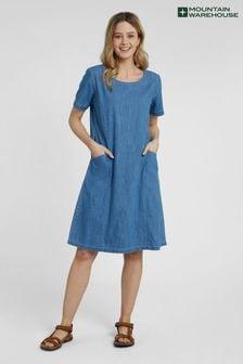 Mountain Warehouse Flora Women UV Protect Cotton Denim Dress