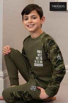 Threadboys Camo Print Sleeves Sweatshirt
