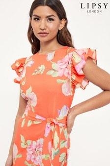 Lipsy Printed Tier Midi Dress