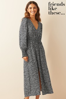 Friends Like These Long Sleeve Midi Dress