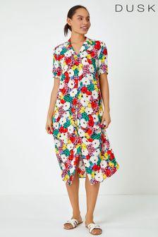 Dusk Bold Floral Shirt Dress
