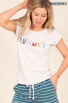 Brakeburn Hello Summer Slogan T-shirt