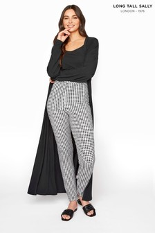 Long Tall Sally Textured Gingham Trousers