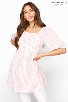 Long Tall Sally Gingham Square Neck Top