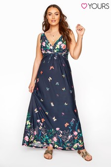 Yours Butterfly Border Maxi Dress