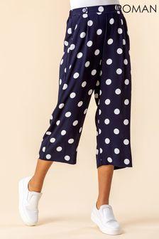 Roman Polka Dot Culotte Trousers