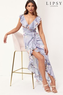 Lipsy Frill Maxi Dress