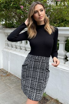 Lipsy Mono 2 in 1 Knitted Dress