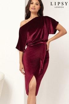 Lipsy Velvet Midi Dress