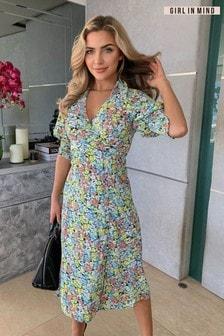 Girl In Mind Katherine Collared Midi Dress