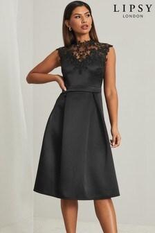 Lipsy Applique Prom Dress