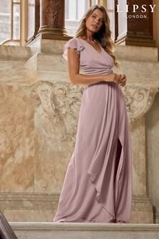 Lipsy Knot Front Maxi Bridesmaid Maxi Dress