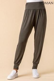 Roman Jersey Stretch Harem Trousers