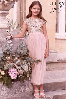 Lipsy Sequin Bodice Occasion Maxi Dress