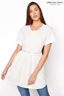 Long Tall Sally Ladder Lace Detail Tee