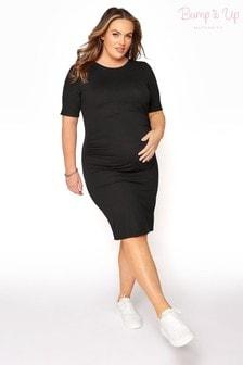 Bump It Up Maternity Short Sleeve Bodycon Dress