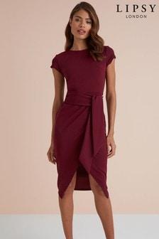 Lipsy Tie Waist Bodycon Dress