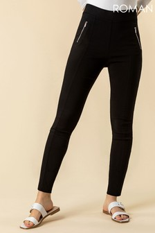 Roman Zip Detail Stretch Trouser