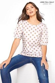 Long Tall Sally Spot Volume Sleeve T-Shirt