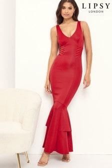 Lipsy Satin Fishtail Maxi Dress