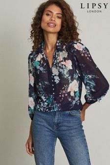 Lipsy Button Detail Printed Shirt