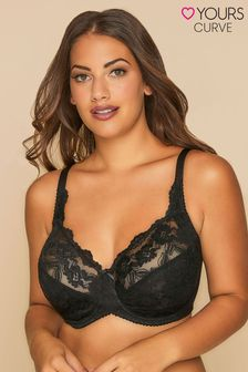 Yours Stretch Lace Non-Padded Underwired Bra