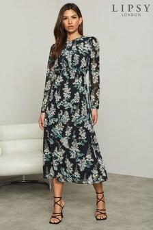 Lipsy Long Sleeve Underbust Midi Dress