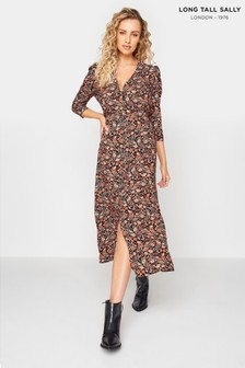 Long Tall Sally Paisley Print Tea Dress