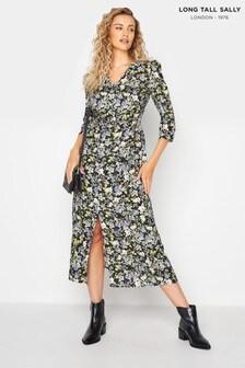Long Tall Sally Ditsy Print Tea Dress