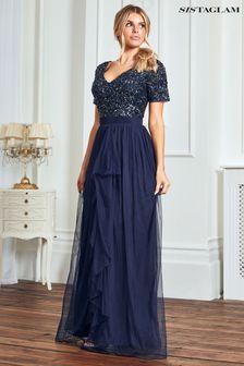 Sistaglam Cap Sleeve Maxi Dress