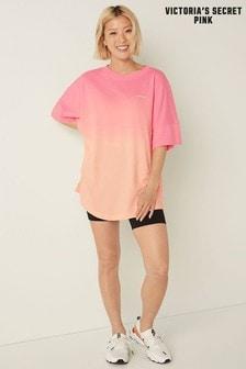 Victoria's Secret PINK Varsity Short Sleeve Crew Tee