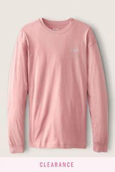 Victoria's Secret PINK Unisex Long Sleeve Campus Tee