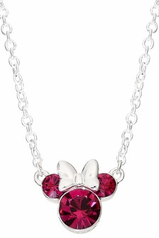 Peers Hardy Minnie Mouse Purple Sterling Silver Crystal Necklace