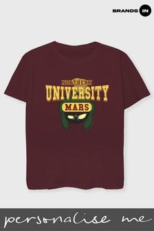 Brands In Looney Tunes Northern University Of Mars Women Maroon Boyfriend Fit T-Shirt